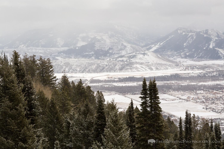 Snowfall over Jackson Hole