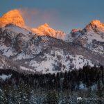 Sunrise Light on Tetons