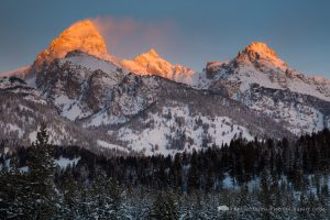Sunrise Light on Tetons
