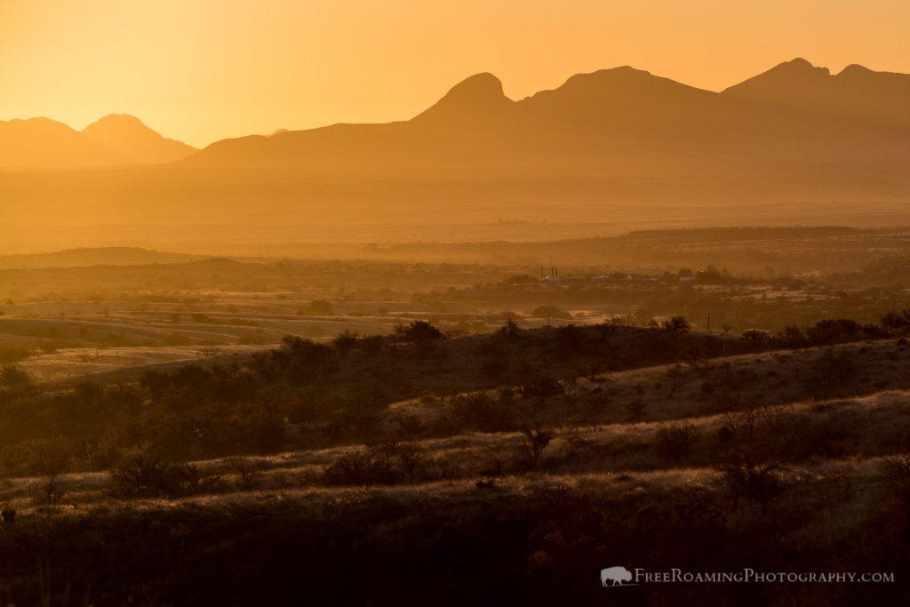 Sunrise over Arizona Deserts