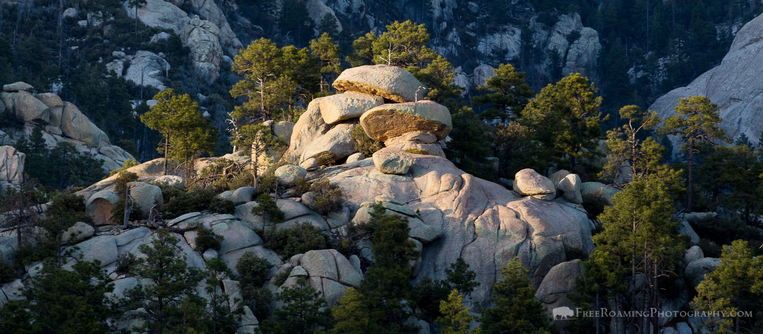 Afternoon Light on Granite Boulders