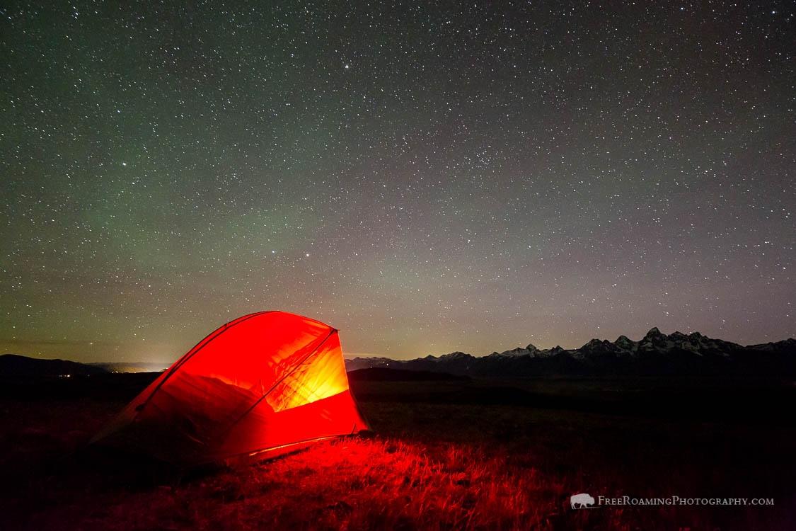 Tent Under Night Sky