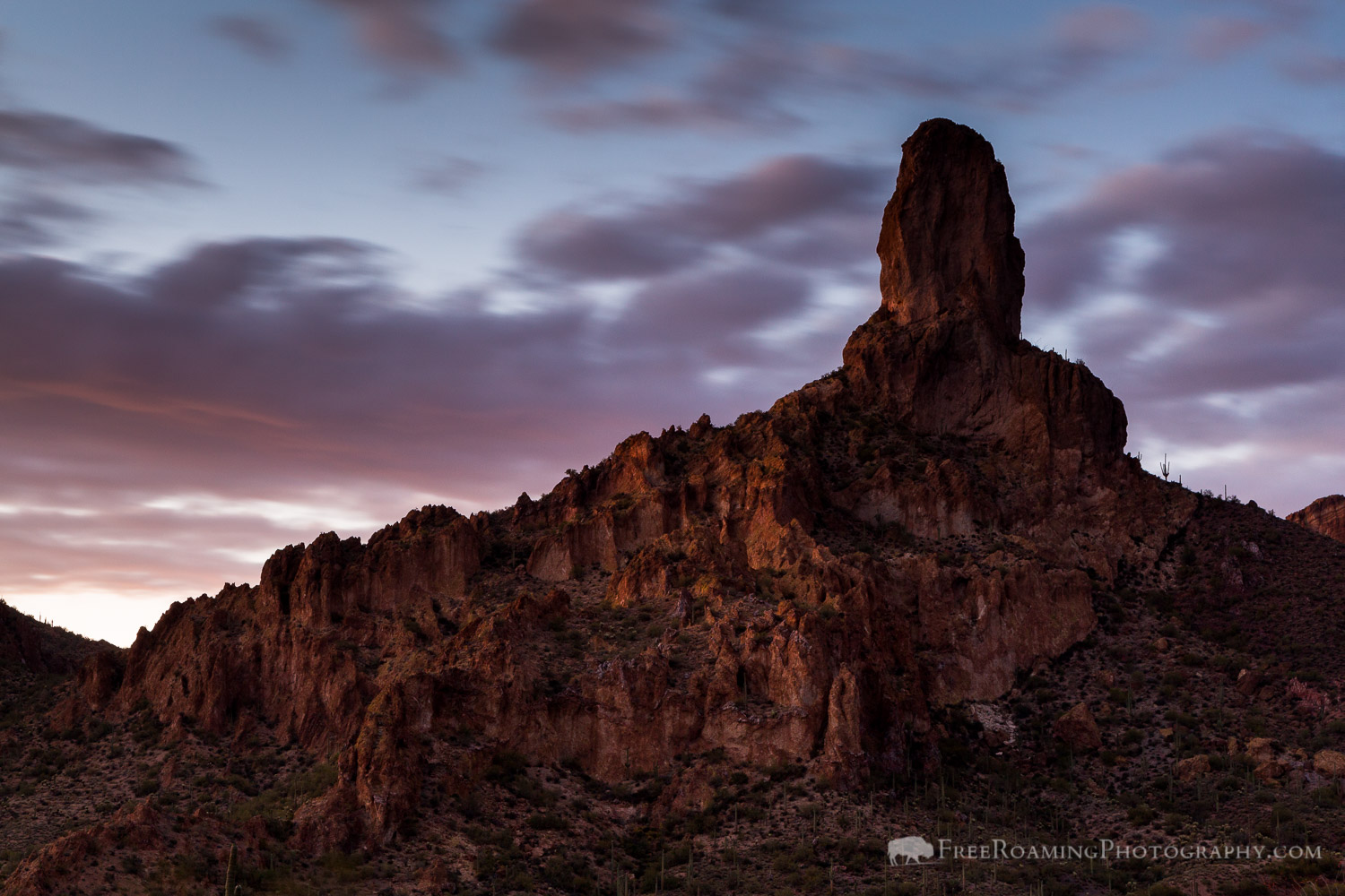 Twilight Sky over Dale's Butte