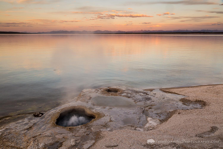 Lakeshore Geyser Erupting