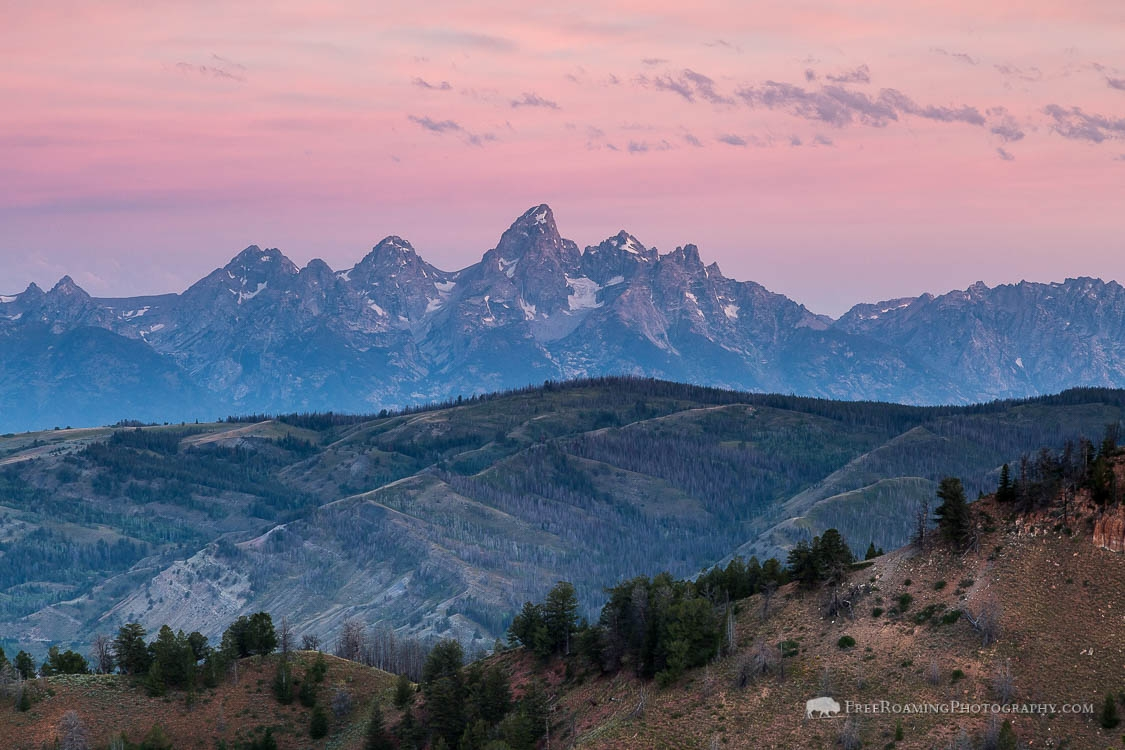 Tetons from Gros Ventre Mountains