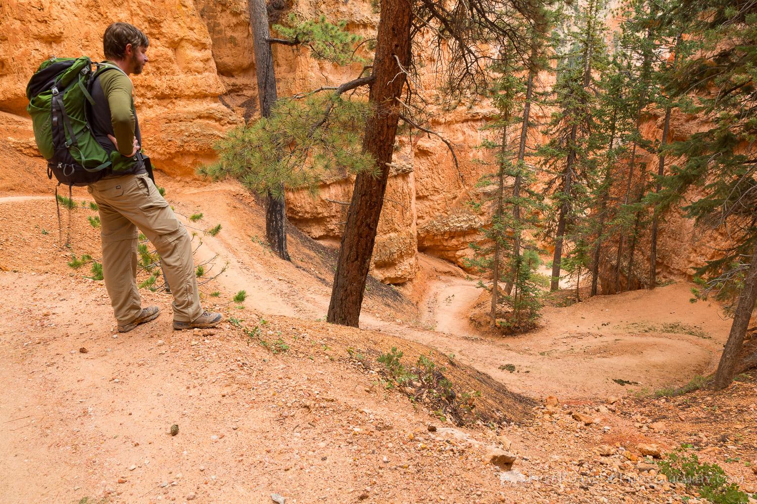 Hiker on Peek-a-Boo Loop