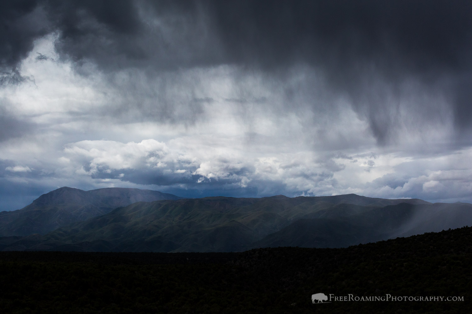 Rain Showers over Mazatzal Mountains