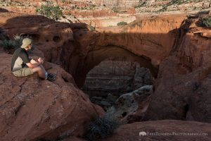 Hiker at Cassidy Arch