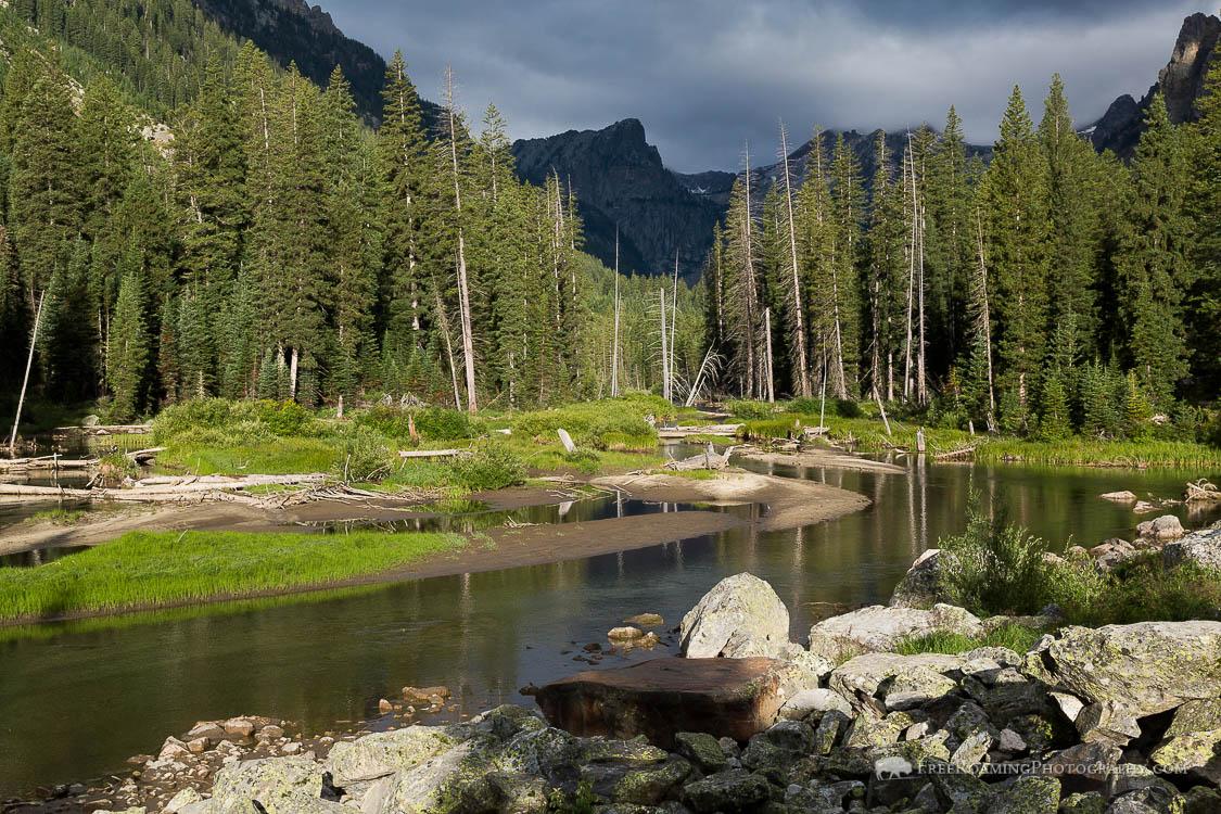 Cascade Creek and Teton Mountains