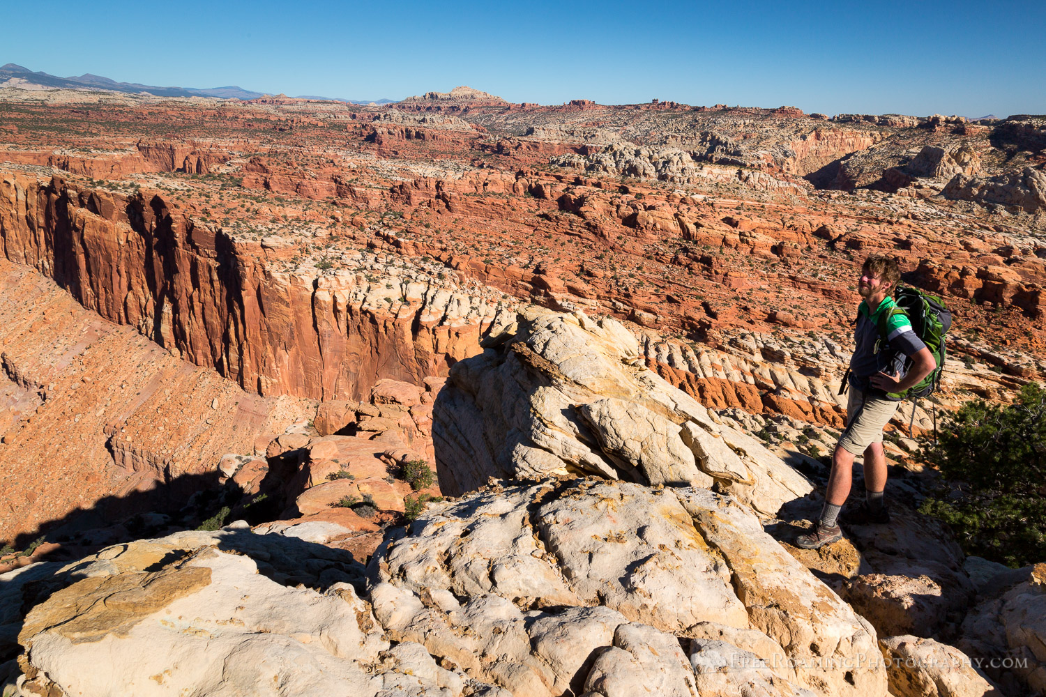 Hiker on Navajo Knobs