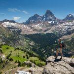 Hiker on Peak 9943