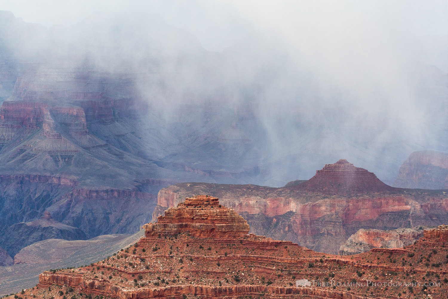 Snowfall over Grand Canyon