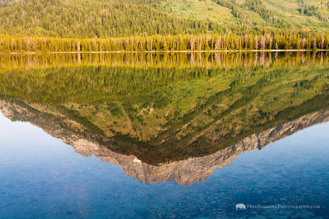 Mount Moran Reflection in Leigh Lake