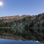 Turquoise Lake and Moon