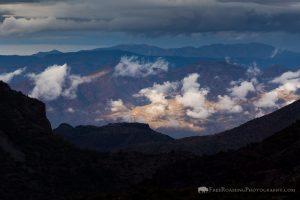 Lifting Fog in Desert Mountains