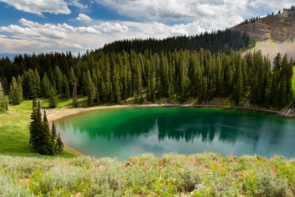 Ski Lake in the Teton Mountains