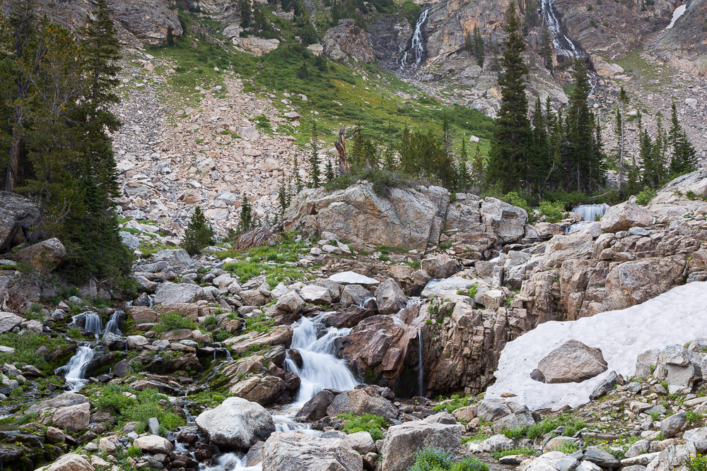 Snow Melt Waterfalls in South Fork