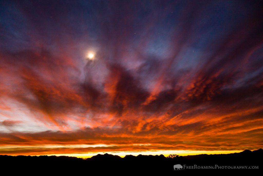 Moon in Twilight Sunset