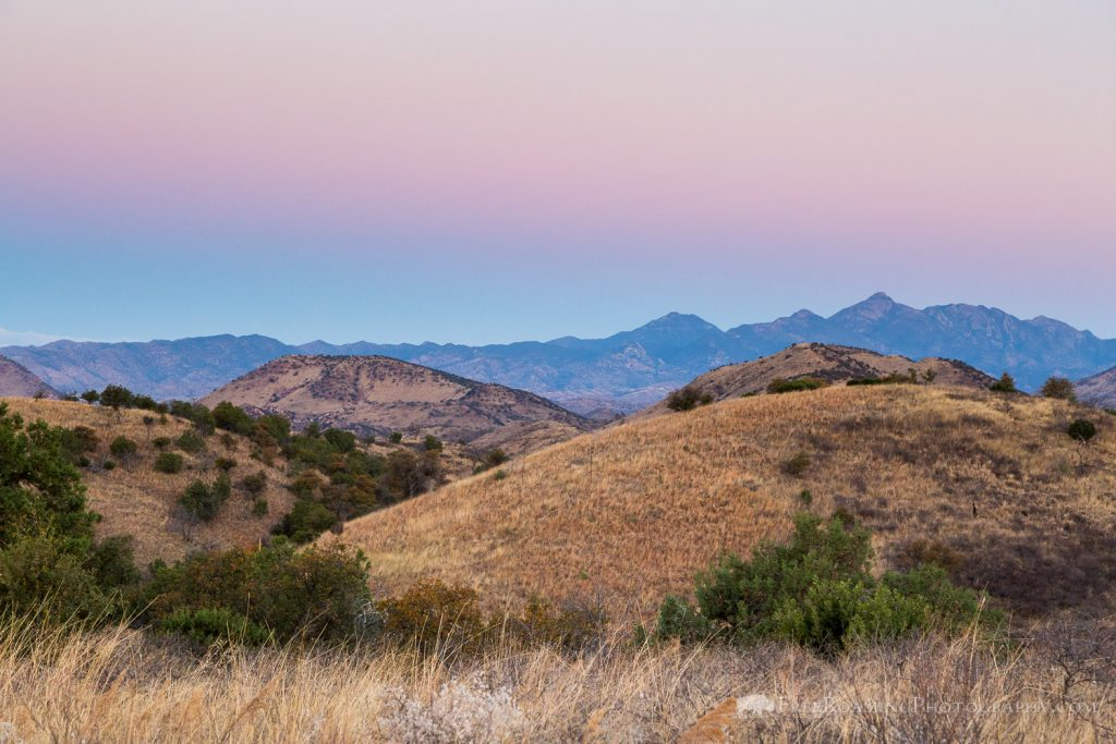 Dawn over Canelo Hills