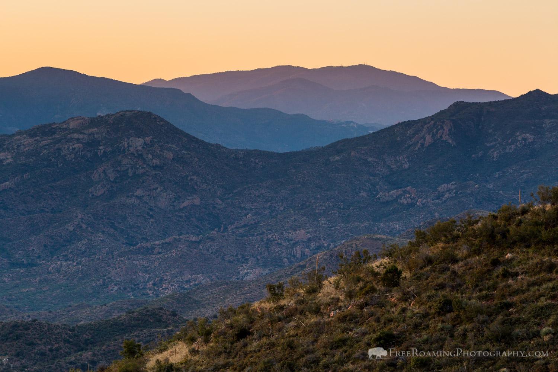 Dawn over Desert Mountains