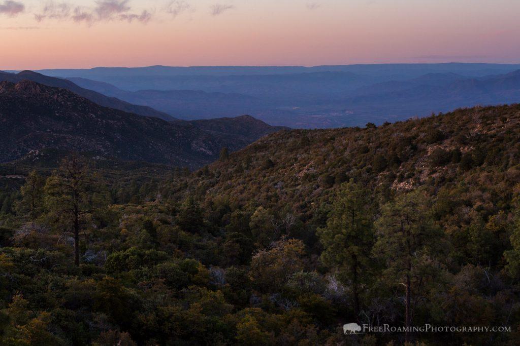 Sunset in Arizona Mountains