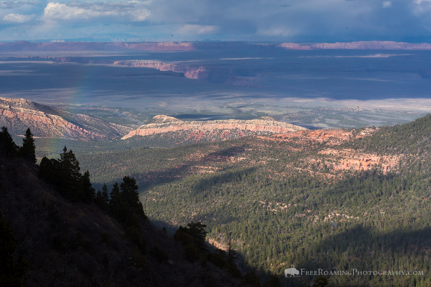 Rainbow over East Rim Viewpoint