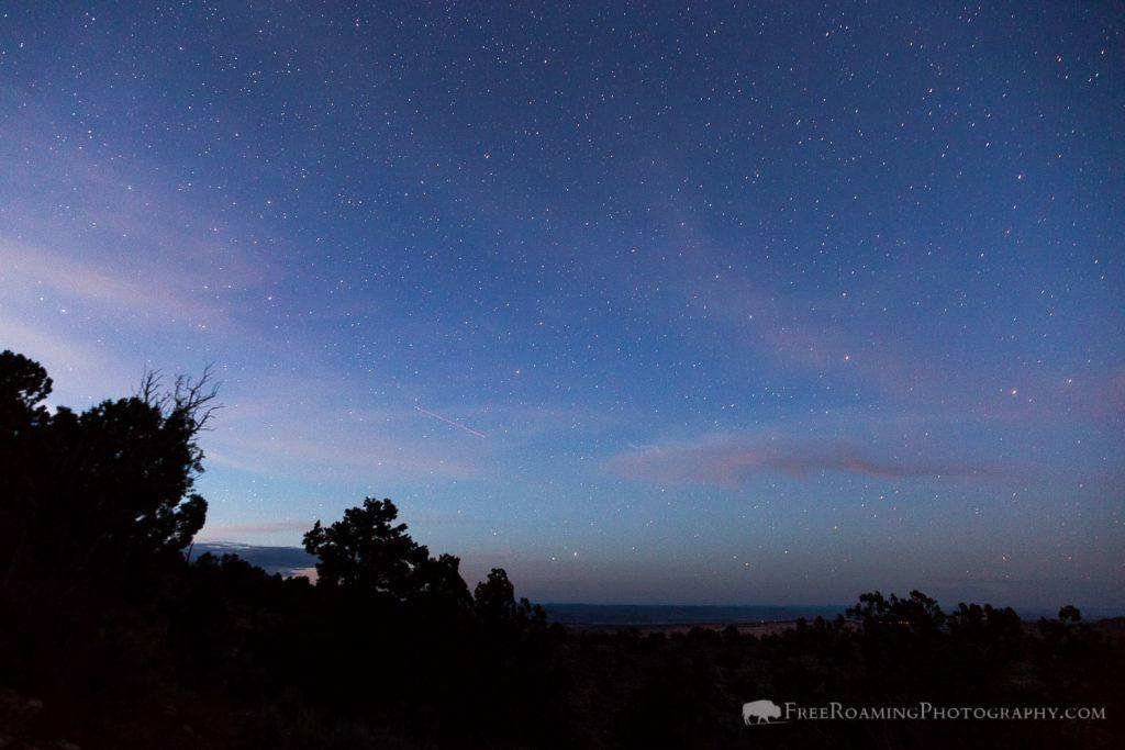 Stars over Northern Kaibab Plateau