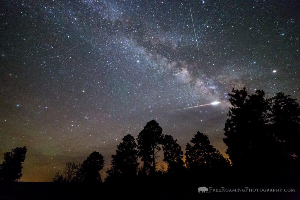 Exploding Meteor over Coconino Rim