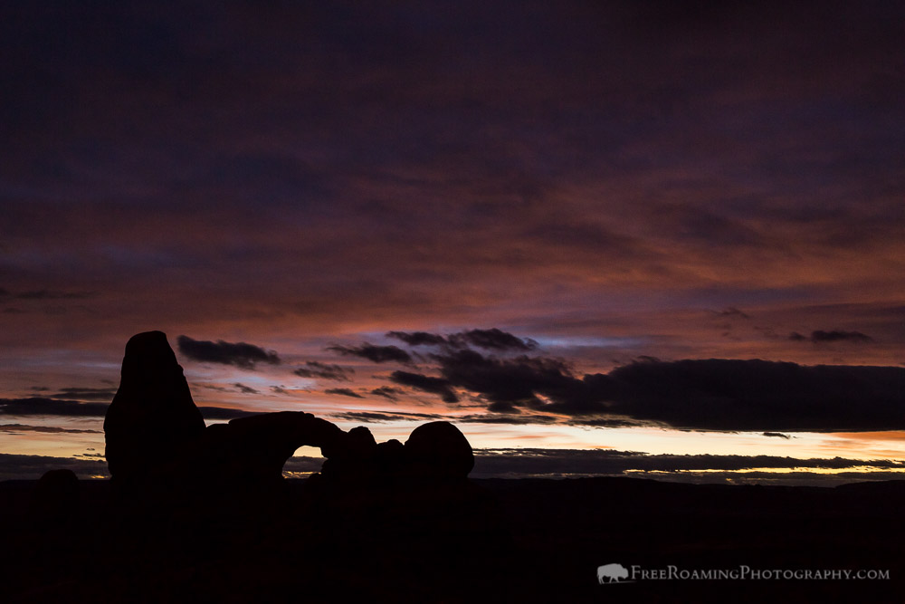 Turret Arch Below Twilight Sky