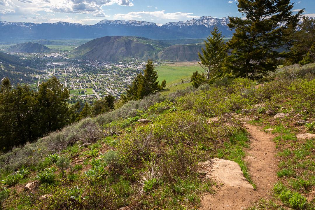 Trail Descending Toward Jackson