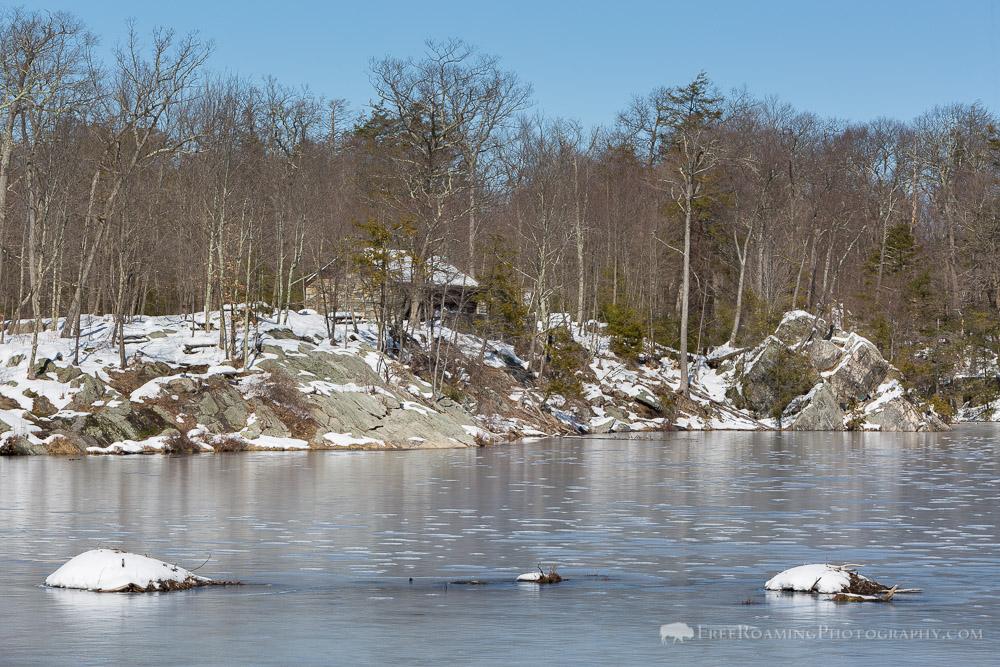 Pelton Pond Frozen Over